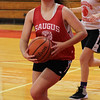Saugus, Ma. 11-29-17. Allie Kotkowski during basketball practice at Saugus High.