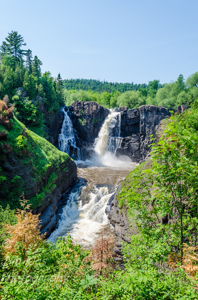 Minnesota's highest waterfall. Pigeon Falls, also known as The High Falls, drops 120 feet from its source in the Pigeon River