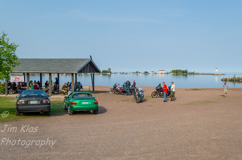 The Minnesota Moto Guzzi Rally was held at Grand Marais RV Park & Campground,  The Rally site is just a short walk from downtown Grand Marais. This was my million dollar view for the rally weekend.The Rally was chilly next to lake Superior  but if you walked up a few hundred feet to the higher camping area it was a lot warmer.