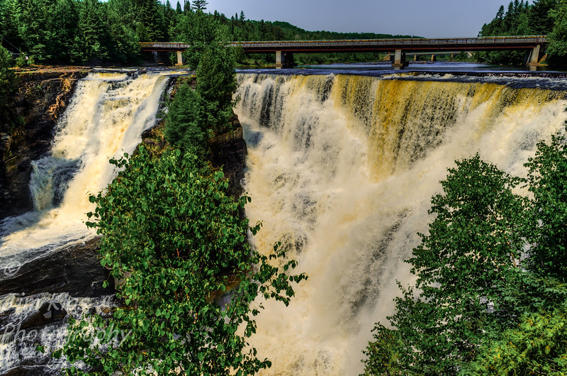 Kakabeka Falls is a waterfall near Thunder Bay, Canada