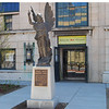 "The Asheville Art Museum is located on Pack Square Park and is part of the Pack Place complex. Pack Place also includes the Colburn Earth Science Museum, Diana Wortham Theatre, The Health Adventure and the YMI Cultural Center. This Thomas Wolfe Memorial Angel statue sits at the entrance of the Art Museum.  Pack Square Park in Asheville, North Carolina is said to be the realized dream of philanthropist George Willis Pack who donated the plot of land to the city in 1901. Nearly a century later, a water leak under Pack Square stimulated discussion to recreate and redesign Pack Square and City-County Plaza into a new public space, which has become the centerpiece of Downtown Asheville. The resulting 6.5 acre park, which sits in front of Buncombe County Courthouse and Asheville City Hall, is comprised of <a href =""http://www.packsquarepark.org/index.php?option=com_content&task=view&id=27&Itemid=41"""">Pack Square</a>, <a href=""http://www.packsquarepark.org/index.php?option=com_content&task=view&id=26&Itemid=40"""">Reuter Terrace</a>, and <a href= ""http://www.packsquarepark.org/index.php?option=com_content&task=view&id=25&Itemid=39"""">Roger McGuire Green</a>, which is the location of Bascom Lamar Lundsford Stage. The park opened on September 25, 2009.  A $140,000 Federal TE grant, procured in 2002, funded the development of the park and streetscaping around Pack Square, contiguous to three major streets: College Street, Patten Avenue, and Biltmore Avenue (US 25). In addition to the Federal funding, Pack Square Park was made possible with generous contributions by private donors."
