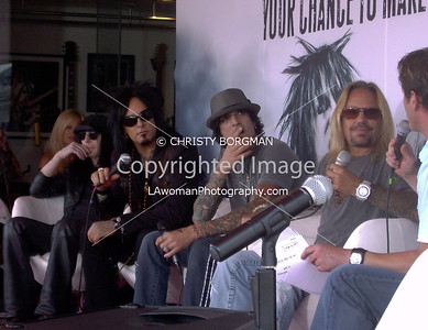 Motley Crue Guitar Center Press Conference, August 2008