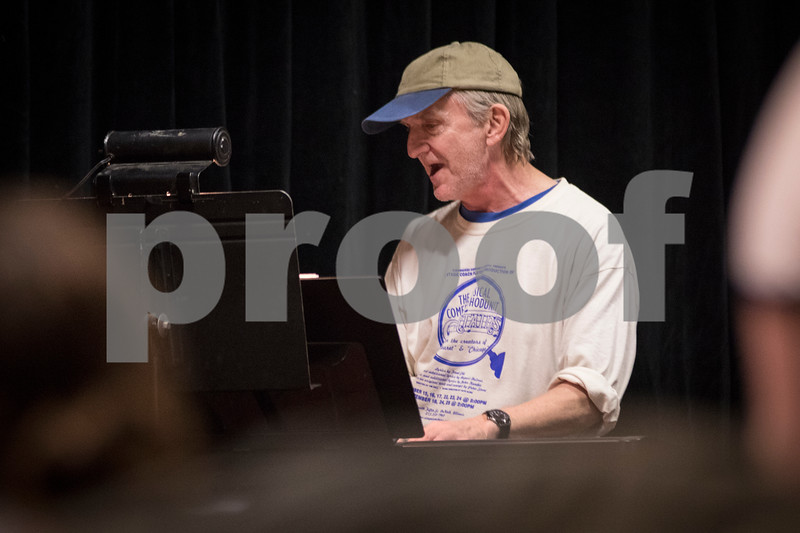 Sam Buckner for Shaw Media.<br /> Jeff Little plays the piano during rehersal on Tuesday November 1, 2016.