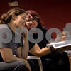 Sam Buckner for Shaw Media.<br /> Nika Morton and Michele McClane discuss minor changes in rehersal on Tuesday November 1, 2016.