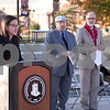 Sam Buckner for Shaw Media.<br /> Speakeor of the NIU student association senate, Christine Wang welcomes attendees of the budget and MAP grant rally at NIU on Thursday November 3, 2016.