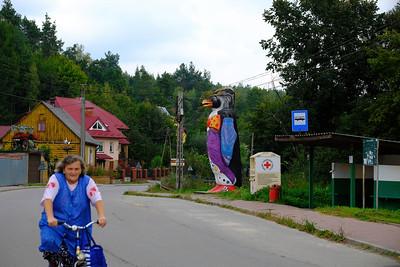 Village scene, Doly Biskupie, Swietokrzyskie, Poland