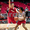 Sam Buckner for Shaw Media.<br /> Marin Maric guards Levi Bradley in practice on Monday November 7, 2016.