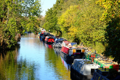 Canal by Victoria Park, Hackney, London, United Kingdom