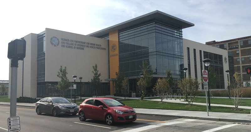 Center for Innovation in Medical Professions, School of Nursing, from Euclid Avenue.