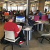 Student lounge and study area, Morton Honors College.