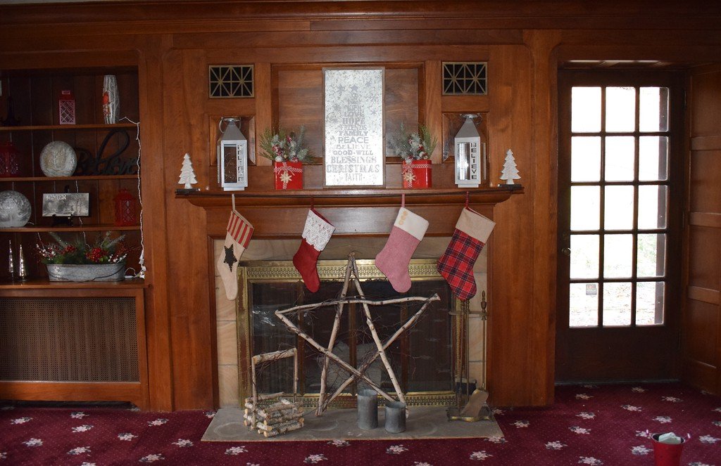 . Briana Contreras � The Morning Journal <br> Inside the Finwood Esate home where children will be able to meet Santa and visitors will enjoy the holiday decorations. The house is open from Dec. 1 until Dec. 23 from 6 p.m. to 9 p.m.