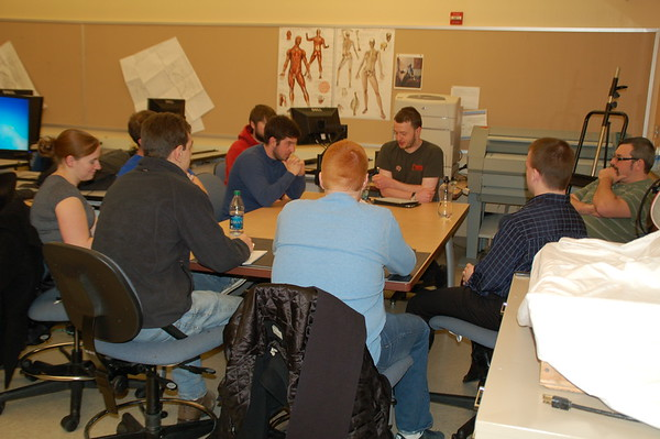 Workshop with Theatre Design students