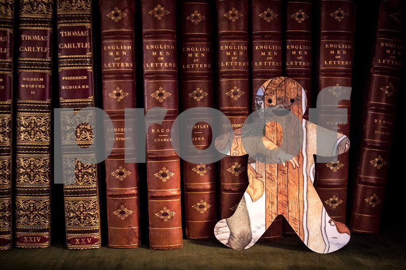 Sam Buckner for Shaw Media.<br /> Gingerbread man cut-out on a bookshelf on the second floor of the Ellwood House on Monday November 14, 2016.