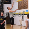 Sam Buckner for Shaw Media.<br /> James Marcinkowski shoots a layup after practicing inbounding at practice on Monday November 14, 2016.