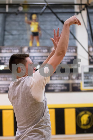 Sam Buckner for Shaw Media.<br /> Jack Mizgalski shoots a 3-pointer at practice on Monday November 14, 2016.