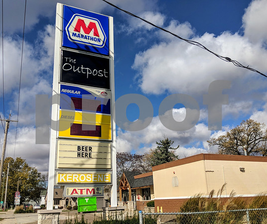 The Outpost has been vacant since the Marathon gas station moved a block and a half up East State Street in August. Now the owner, Carls Oil, wants to rezone the site to Central Business District zoning, which would open the the range of business types that can go there.