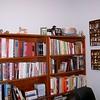 Bookshelves in office