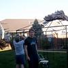 Craig and Ian install the gazebo