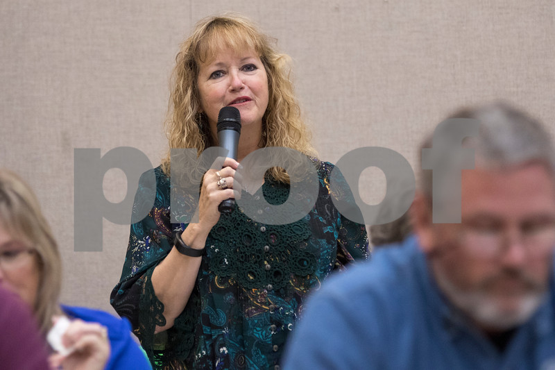 Sam Buckner for Shaw Media.<br /> Anita Jo Turner of the 4th district spoke in opposition of the propane distribution center opening at 25330 Five Points Road in Sycamore on Wednesday November 16, 2016.