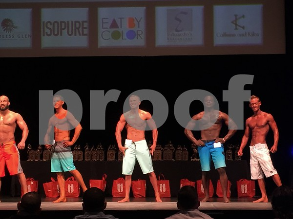 Men compete in the physique division.