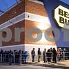 Sam Buckner for Shaw Media.<br /> Shoppers line up outside of Best Buy before they opened at 4:50 on Thursday November 24, 2016 for black fridday deals.