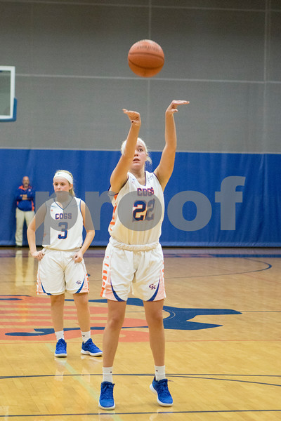 Sam Buckner for Shaw Media.<br /> Sam Winker shoots a free throw on Wednesday November, 28 against Woodstock North.