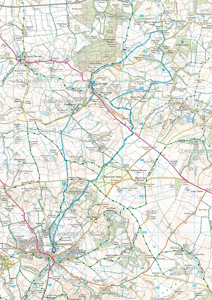 The route walked by the group; the direction we took was in an anticlockwise direction.