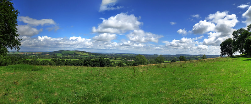 Scenery to the NE from Crook Hill