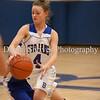Hannah LoChiatto dodging the Narragansett players.