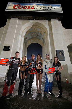 Your podium: Robby Gordon 1st, Rob MacCachren 2nd and PJ Jones 3rd at Round 3 Stadium Super Trucks at Los Angeles Memorial Coliseum in Los Angeles, California on April 27, 2013.Mandatory Photo Credit: Chris Anderson/114photography