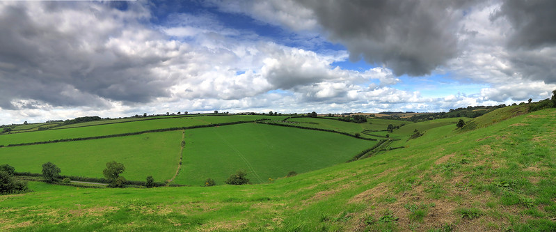 The view from Oborne Hill.