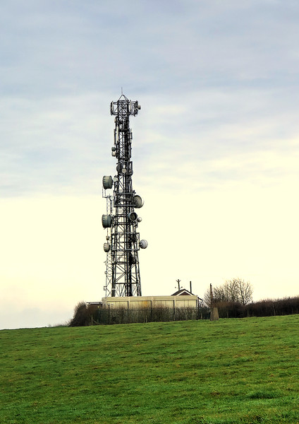 A telecommunication relay station next to the A356
