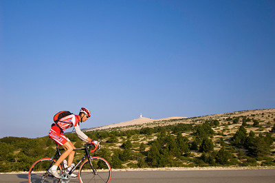 Europe, France, Provence, cycling to the top of Mont Ventoux