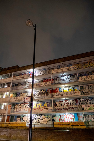 Derelict building, Hackney, London, United Kingdom