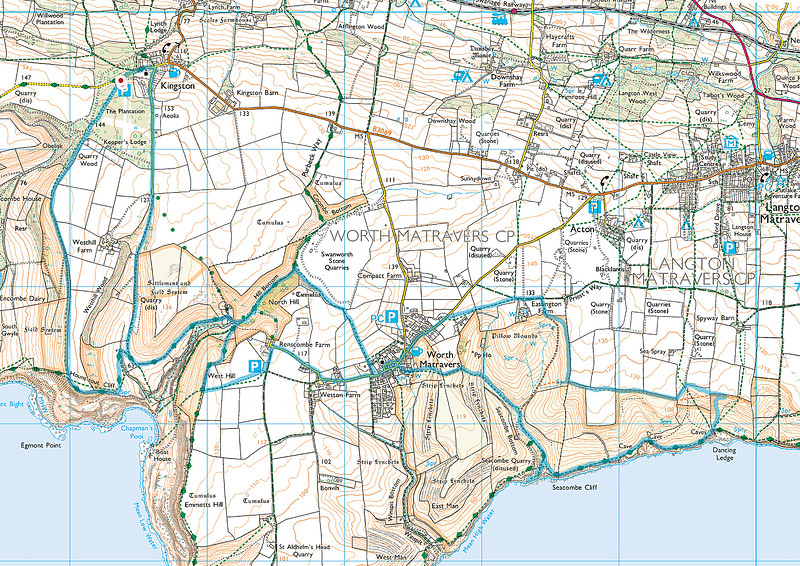 The route actually taken is shown in blue on the map above.