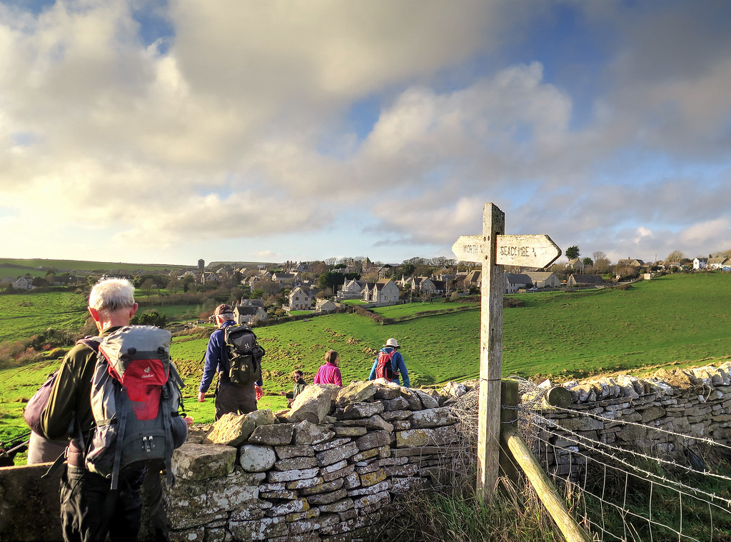 Approaching Worth Matravers for the second time