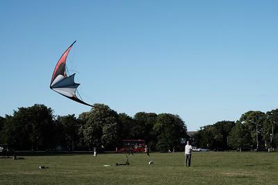 Kiting on Ealing Common, London, United KIngdom