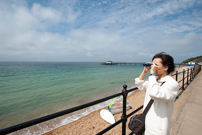 Waterfront in Totland Bay, Isle of Wight, United Kingdom