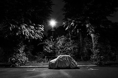 United Kingdom, London, Ealing, Fiat 650 parked wrapped up on Leopold Road