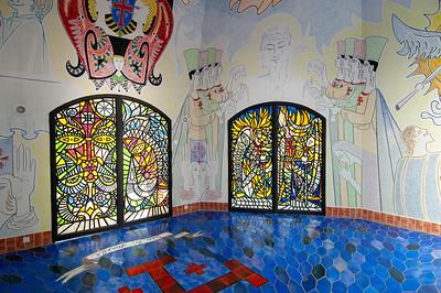 Europe, France, Provence, Frejus, Notre-Dame de Jerusalem desidned by Cocteau
