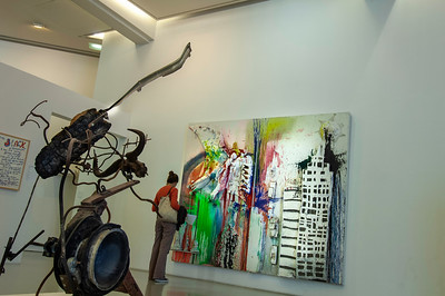 Europe, France, Provence, Nice , Musee D'Art Moderne Et D'Art Contemporani ( Museum of Modern and Contemporary Art)