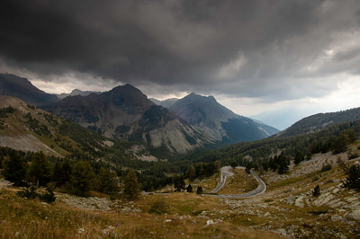 Europe, France, Provence, mountain view in Southern Alps, road  from Barcelonnette to Nice; Col de la Cayolle