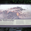 Salt works marker sign.
