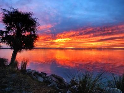 (SU2) Sunrise overlooking Indian River in Titusville, FL