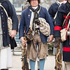 Bob Erbetta of Marblehead stands at the ready with his fellow members of Blover's Marblehead Regiment.