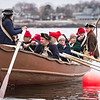 Glover's Marblehead Regiment sets off in the annual row across Marblehead Harbor on Saturday.