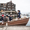Glover's Marblehead Regiment readies for the annual row across Marblehead Harbor on Saturday.