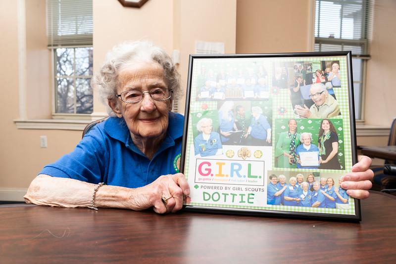 12 27 18 Lynn 99 year old girl scout 1