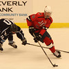 Salem, Ma. 12-3-17. Caleb Dololin of Peabody, and Brian Clougherty of Lynn, vie for the puck.