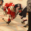 Salem, Ma. 12-3-17. John Torres of Saugus, and Mike Giodano of Revere on a face off.